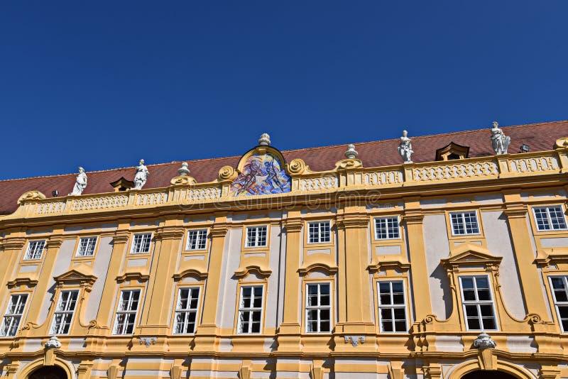 Benedictineklooster Melk royalty-vrije stock afbeelding