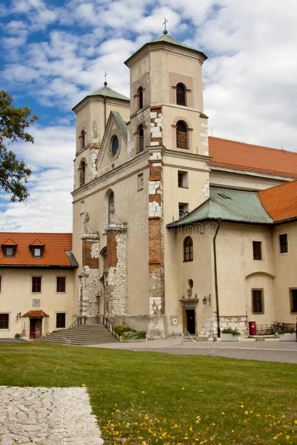 Benedictinekloster - Cracow Tyniec, Polen. royaltyfri foto