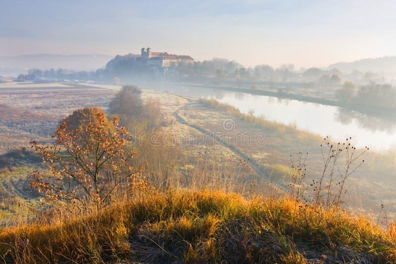 Benedictinekloster i Tyniec nära Cracow, Polen royaltyfri foto