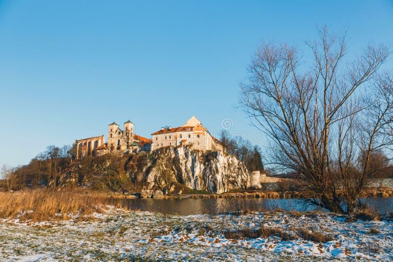 Benedictinekloster i Tyniec, Polen arkivbilder