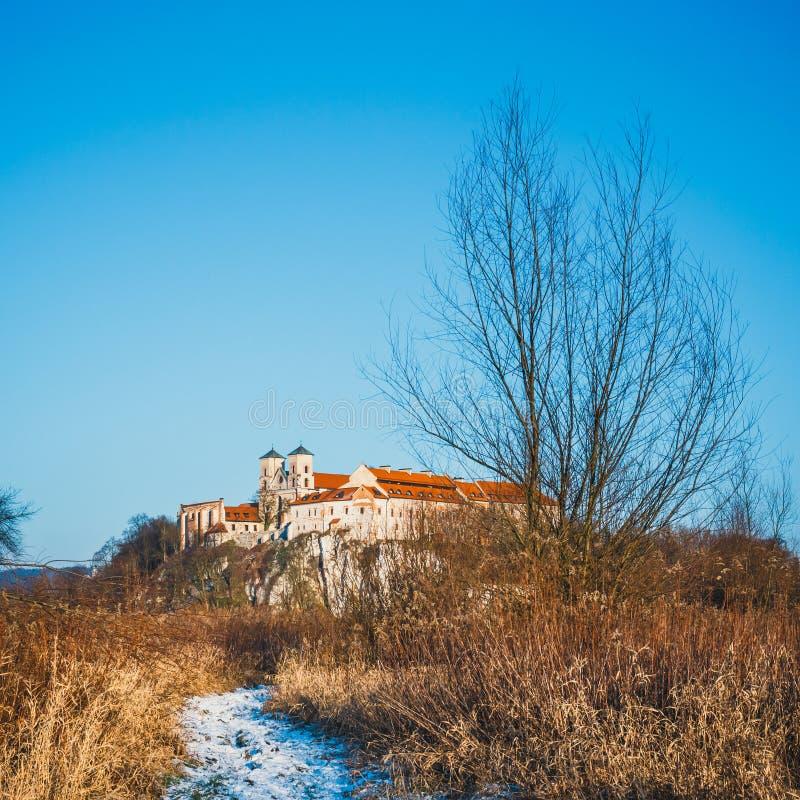 Benedictinekloster i Tyniec, Polen fotografering för bildbyråer