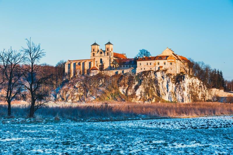Benedictinekloster i Tyniec, Polen arkivbild
