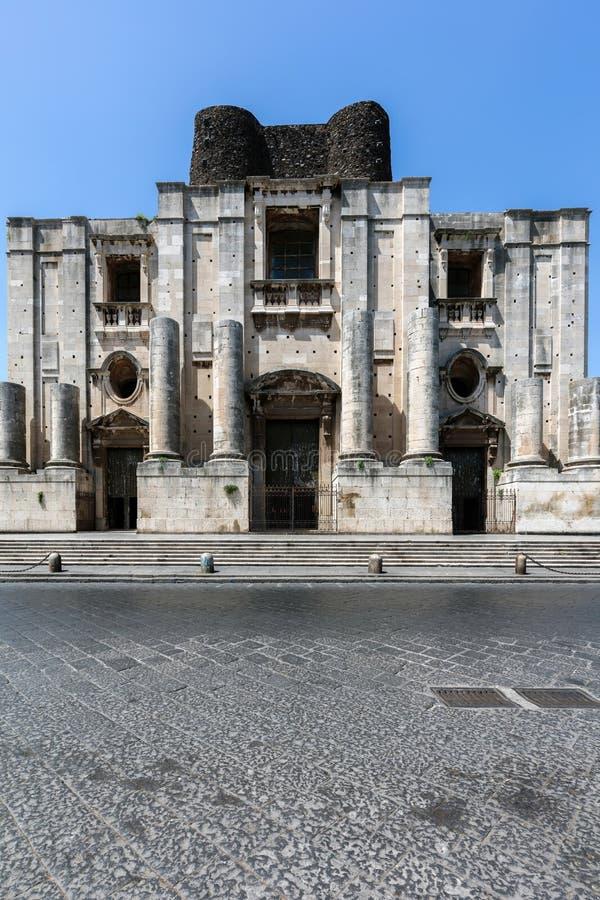 Benediktiner-Kloster von San Nicolo L ` Arena in Catania lizenzfreie stockfotografie
