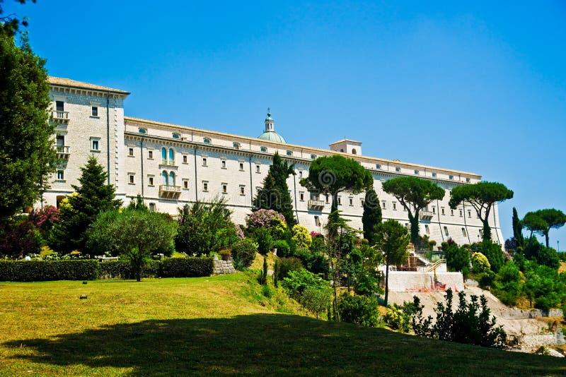 Benediktinerkloster, Monte Cassino stockbild
