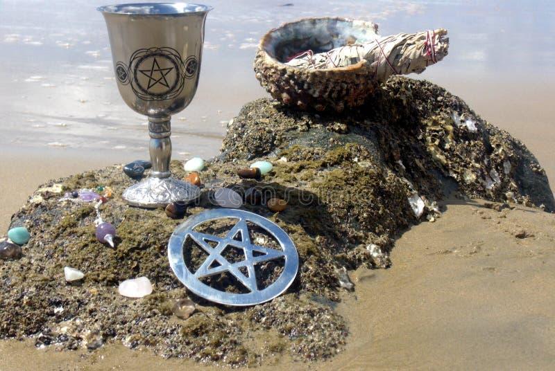 Benedizioni 1 della spiaggia fotografie stock libere da diritti