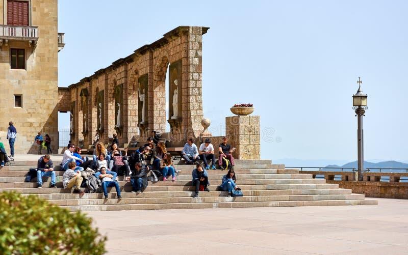 Benedyktyński opactwo Santa Maria de Montserrat Hiszpania fotografia royalty free