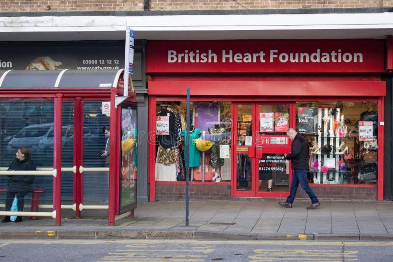 Benefícios da fundação do coração da queda da rua principal fotos de stock royalty free