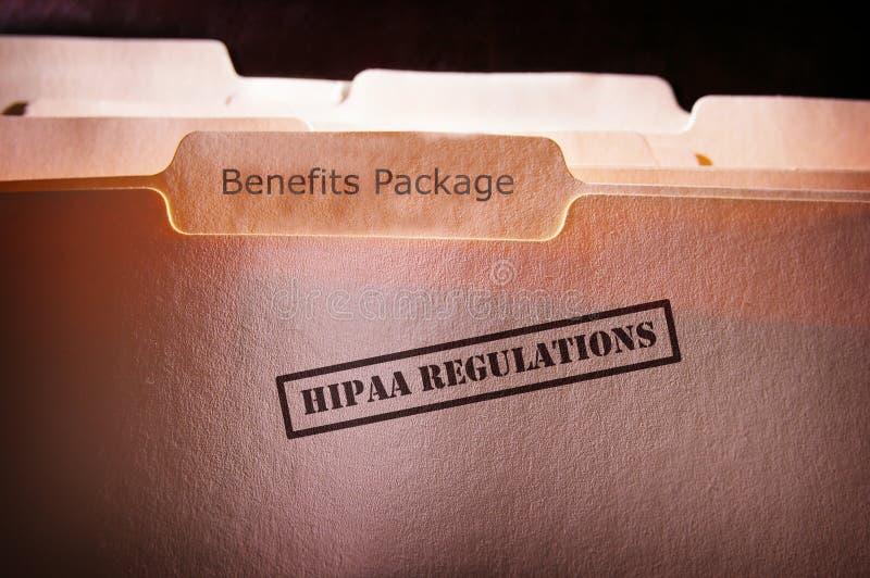 Benefícios do empregado de HIPAA fotografia de stock