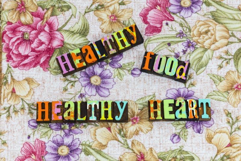 Benefícios saudáveis do coração do alimento natural fotografia de stock royalty free