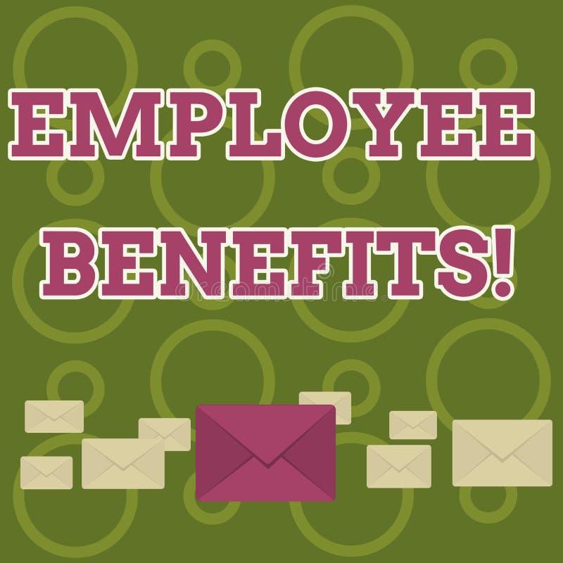 Benefici degli impiegati del testo di scrittura di parola Concetto di affari per la compensazione dei contanti non ed indiretta p illustrazione vettoriale