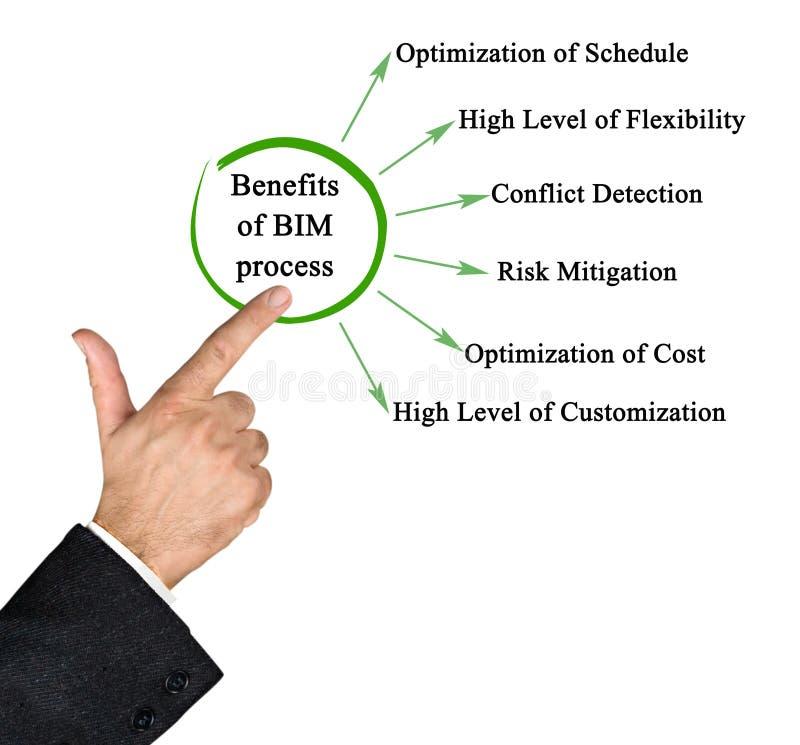 Benefici del processo di BIM royalty illustrazione gratis