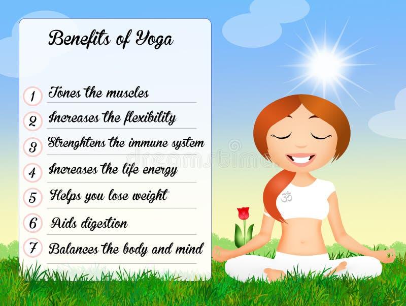 Benefici dell'yoga royalty illustrazione gratis