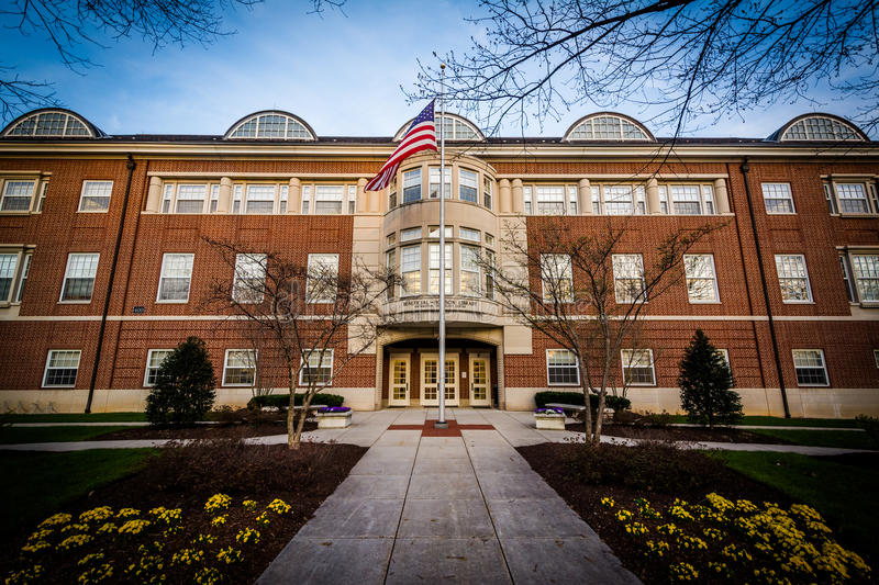 The Beneficial-Hodson Library at Hood College, in Frederick, Mar royalty free stock images