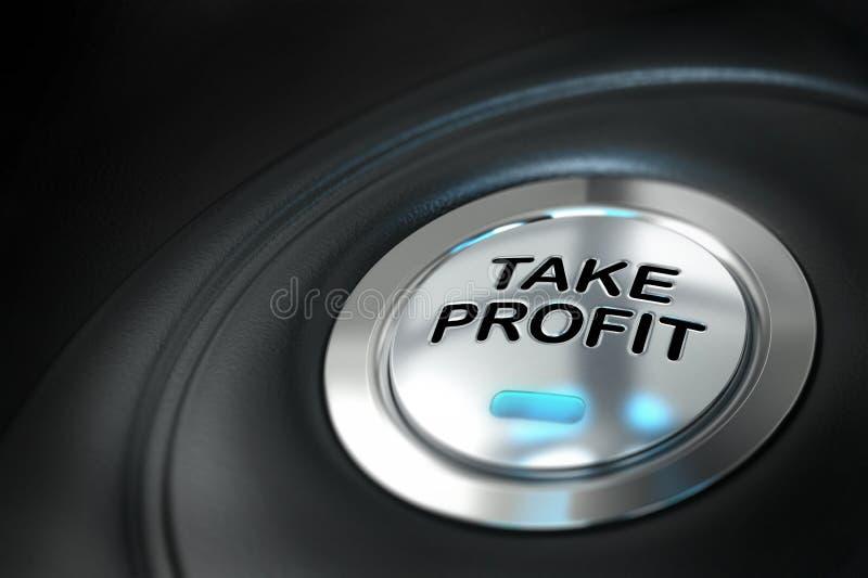 Beneficio de la toma, concepto financiero libre illustration
