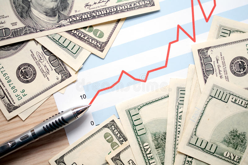 Beneficios financieros imagen de archivo libre de regalías