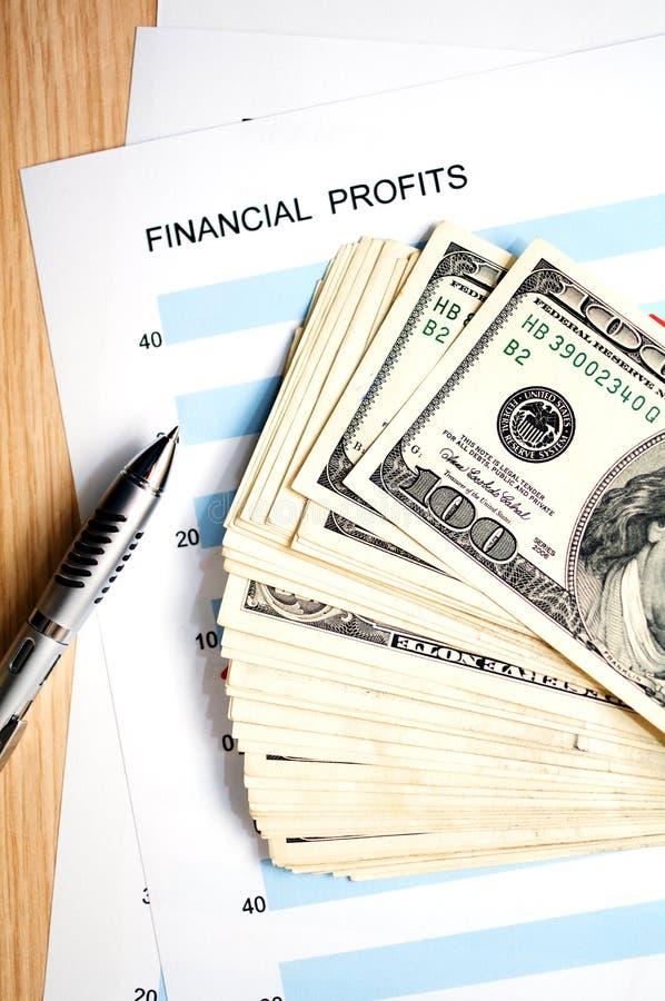 Beneficios financieros imagenes de archivo
