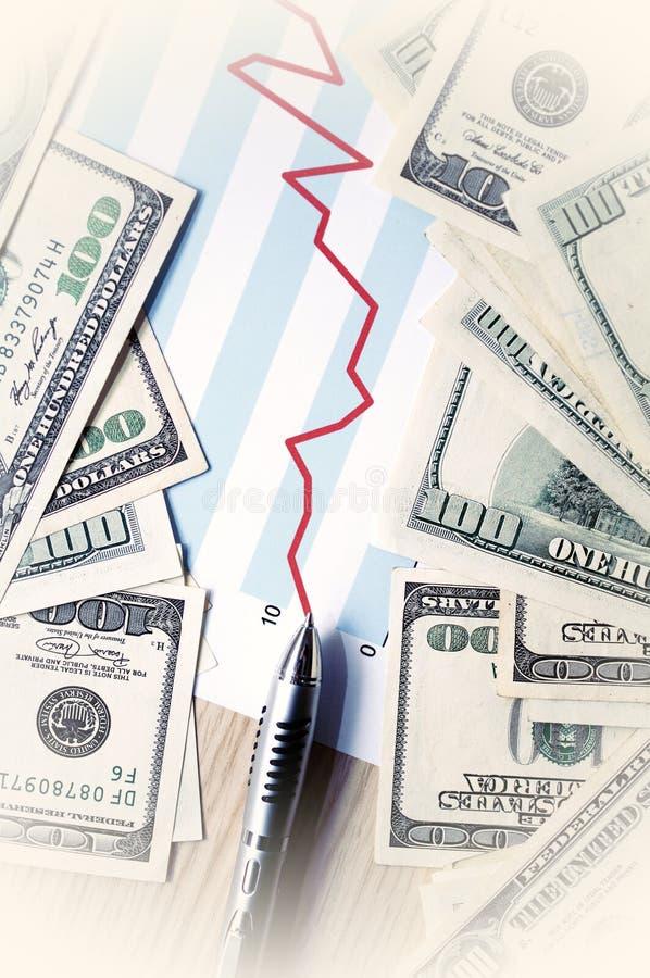 Beneficios financieros foto de archivo libre de regalías