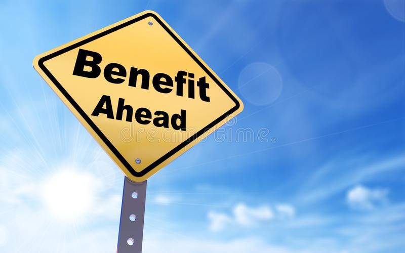 Benefit ahead sign vector illustration