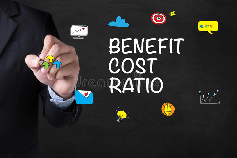 BENEFIT COST RATIO royalty free stock photography