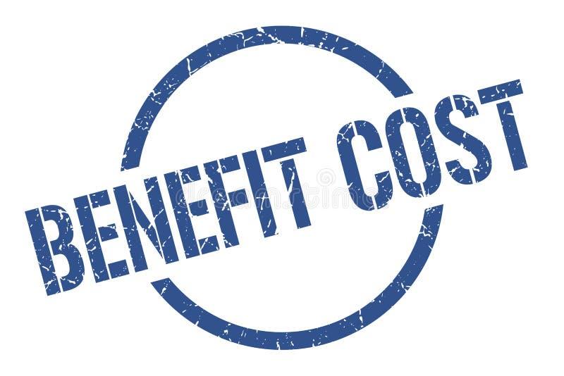Benefit cost stamp. Benefit cost round grunge stamp. benefit cost sign. benefit cost stock illustration