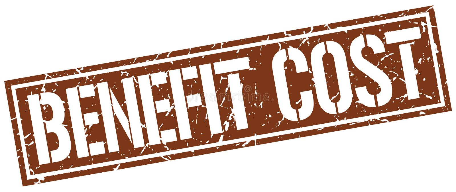 Benefit cost stamp. Benefit cost square grunge sign isolated on white. benefit cost vector illustration