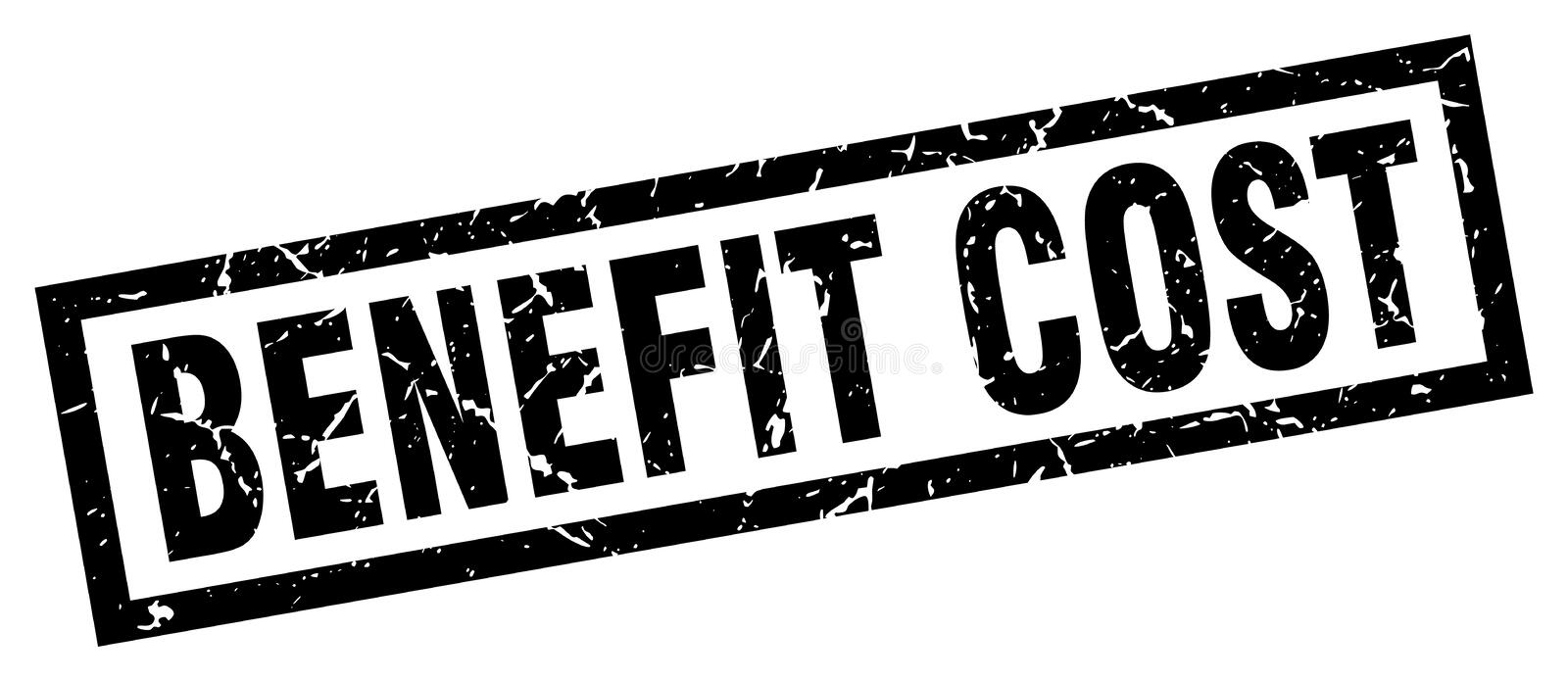 Benefit cost stamp. Benefit cost grunge vintage stamp isolated on white background. benefit cost. sign vector illustration