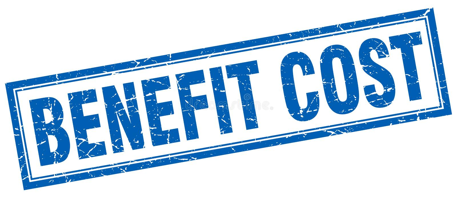 Benefit cost stamp. Benefit cost square grunge stamp. benefit cost sign. benefit cost vector illustration