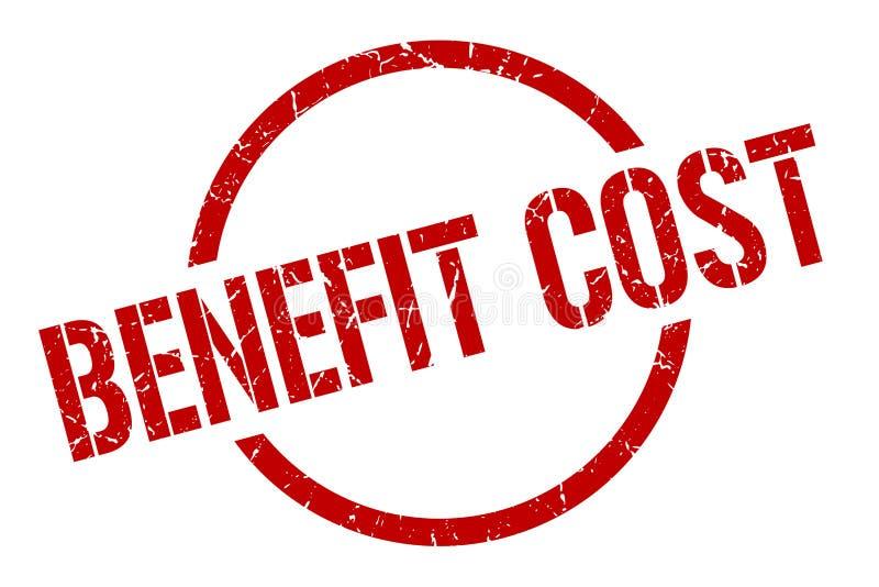 Benefit cost stamp. Benefit cost round grunge stamp. benefit cost sign. benefit cost vector illustration