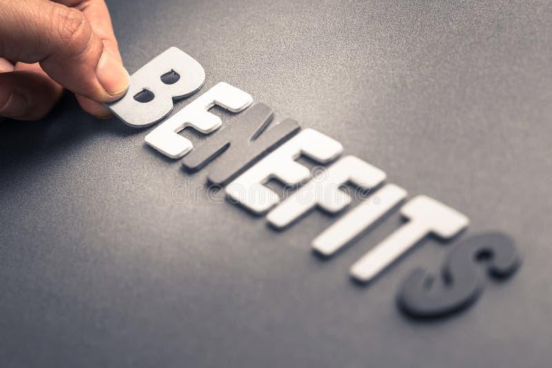 Benefits stock photography