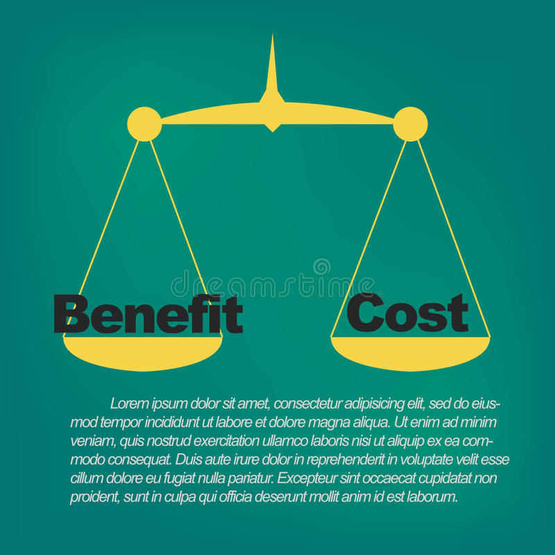 Free Benefits Compared To Costs Stock Image - 47222461
