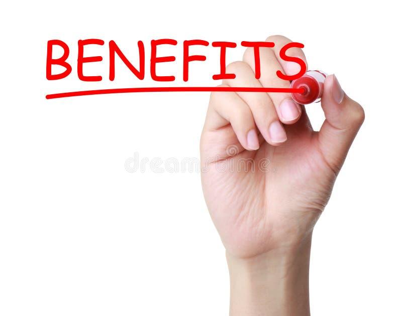 Benefits concept royalty free stock photos