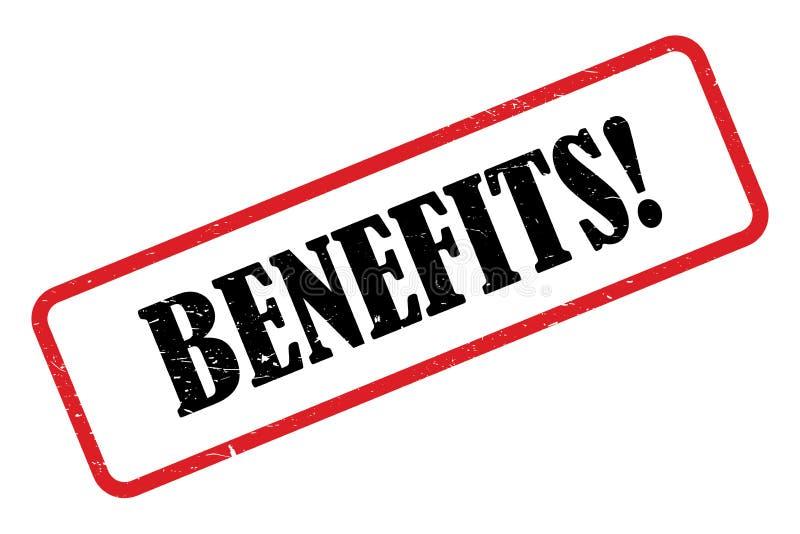 Benefits heading. On white background vector illustration
