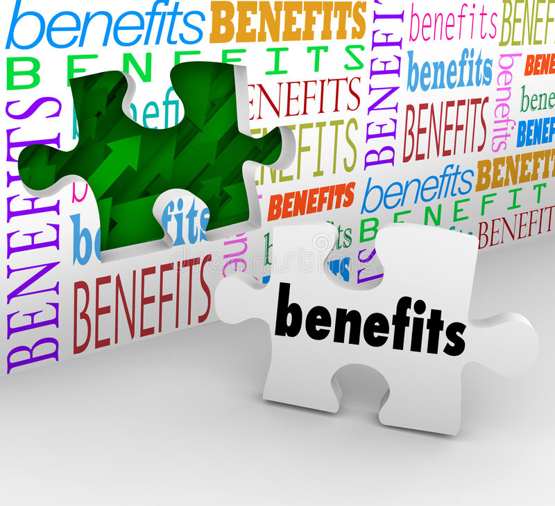 Download Benefits Hole In Wall Puzzle Piece Complete Unique Selling Poin Stock Illustration - Image: 31779994
