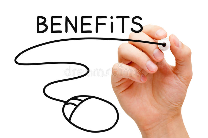 Benefits Mouse Concept stock images