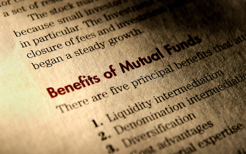 Benefits of Mutual Funds. stock photo