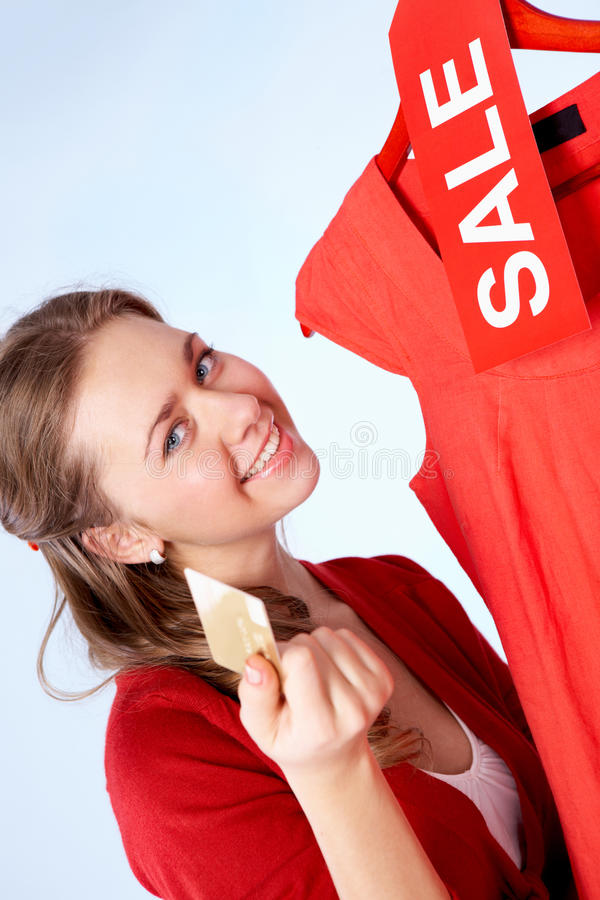Download Benefits of sale stock photo. Image of dress, credit - 23780962