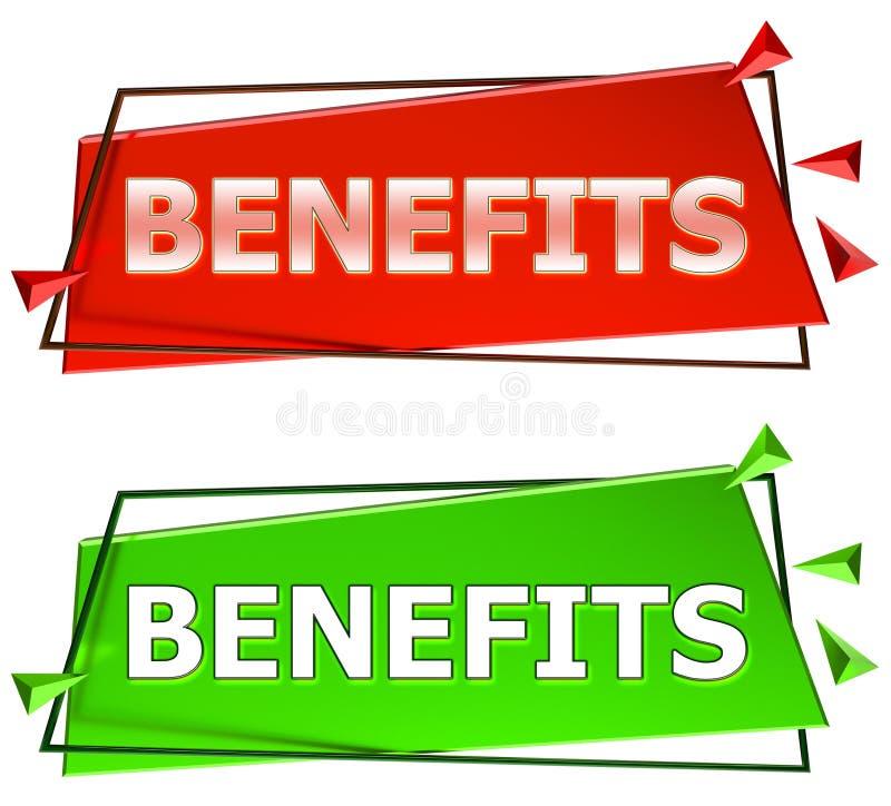 Benefits sign vector illustration