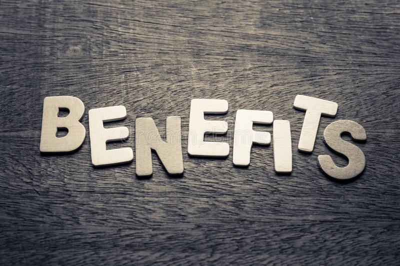 Benefits stock images
