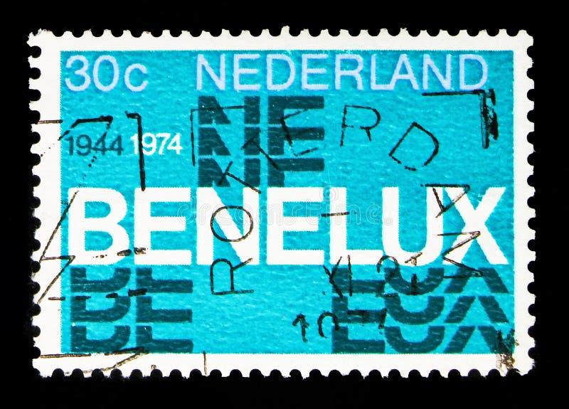 BENELUX-Zeichen, serie, circa 1974 lizenzfreie stockfotos