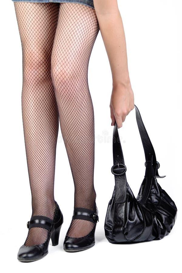 Benen en zak stock afbeelding