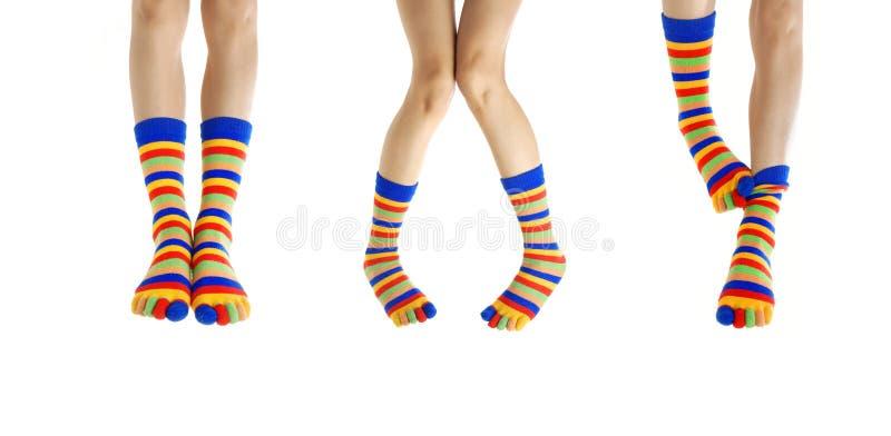 Benen in sokken stock fotografie