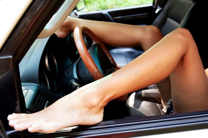 Naakte Sexy Vrouw In De Auto Stock Afbeelding Image Of Groot Wijfje 96080447