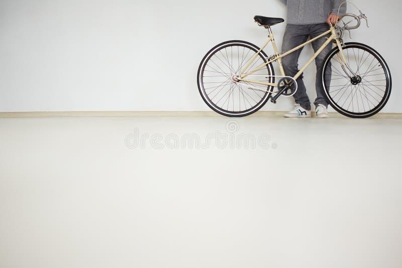 Benen van fietser royalty-vrije stock foto
