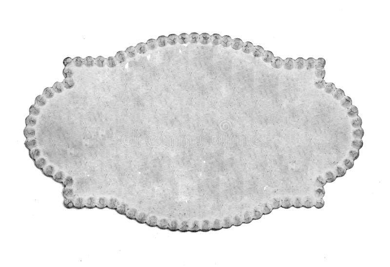 Benennende Karte der Weinlese stockbild