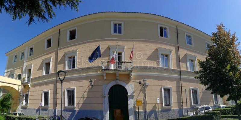 Benevento - Überblick über Rathaus lizenzfreie stockbilder