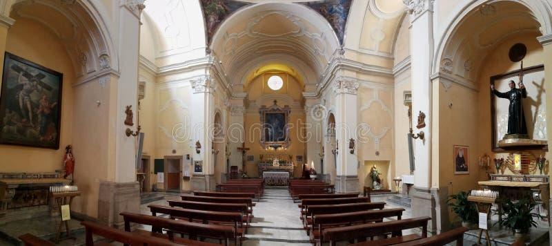Benevento - Überblick über Sant 'Anna stockbilder