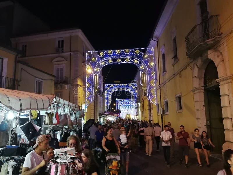 Benevento - Boxen voor Madonna delle Grazie stock foto