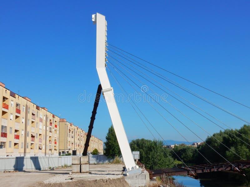 Benevento - cantiere del ponte pedonale fotografie stock libere da diritti