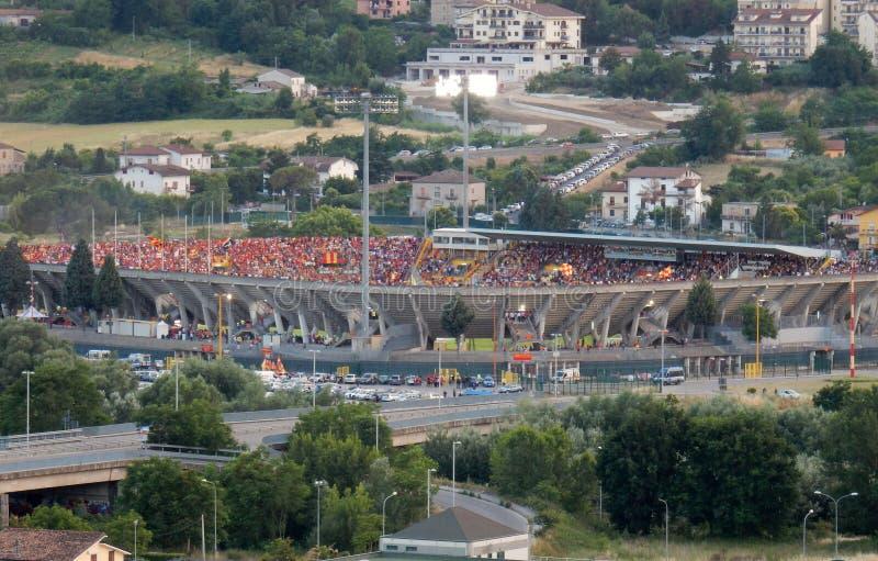 Benevento - el estadio antes del final imagen de archivo