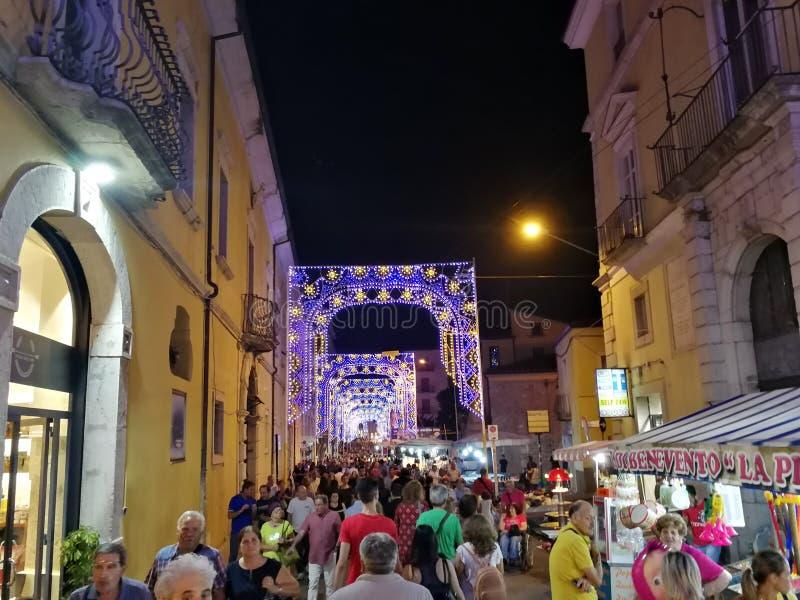 Benevento - Feest voor Madonna delle Grazie royalty-vrije stock foto